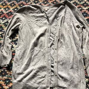 Gray Merona Sweater w 3/4 Sleeve Ask XL